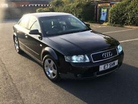 2002/52 AUDI A4 1.9 TDI SE 130BHP 4 DOOR SALOON BLACK MOT'd GOOD RUNNER BARGAIN MAY PX
