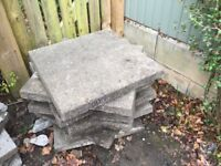 Concrete Paving Slabs - 9Nr 600mm x 600mm - used - FREE to collect.