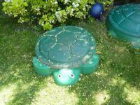 Littke Tikes turtle sandpit.