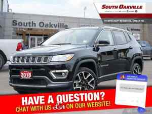 2018 Jeep Compass Limited | DUAL SUNROOF | HTD LTHER | NAV | REA