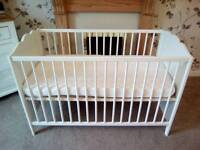 EXCELLENT CONDITION LIKE NEW JOHN LEWIS COT WITH UNUSED mattress £45