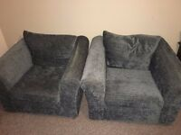 Single seater sofa - 2 nos and 1 no Cane cushion chair