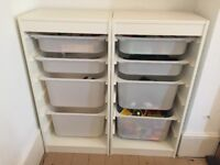 IKEA Trofast toy storage 2 frames and 8 storage boxes
