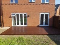 Fencing, decking, landscaping and paving