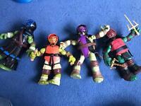 Set of 4 large turtles
