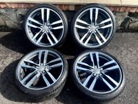 19'' GENUINE AUDI TT MK3 MK2 S LINE ALLOY WHEELS TYRES ALLOYS 8S0601025F