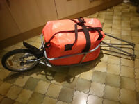 Bike / Bicycle Folding Cargo Trailer (Road or MTB) camping trailer with dry bag