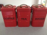 Set of Three House of Fraser Cannisters