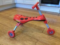 Red Beattle Scuttlebug - used but in good condition - ideal for young kids to scurry round on