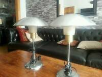 Designer table lamps. Pair