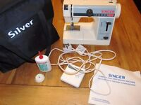 Reduced! Singer Portable Compact Free-Arm Sewing Machine Model 324 with Pedal, Bag, Oil and Manual