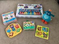 Baby/ Toddler toy bundle. Puzzles, Twirlywoos, Piano