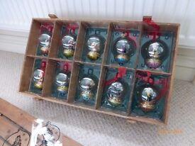 Thomas Pacconi Classics blown glass tree ornaments