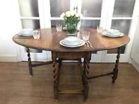ENGLISH ANTIQUE TABLE FREE DELIVERY LDN🇬🇧VINTAGE DROP LEAF