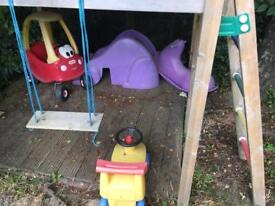 For sale selection of garden toys