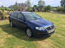 2007 VW VOLKSWAGEN PASSAT TDI SE ESTATE BLUE MANUAL DIESEL **LOVELY CAR**