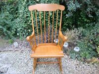 Classic Styled Solid Hardwood Rocking Chair.