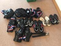 Various Blitz karate/tang soo do safety gear