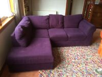 Corner sofa ideal for student flat/ party shed/ den...free for immediate uplift