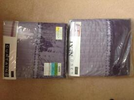 Next curtains and matching double duvet set new