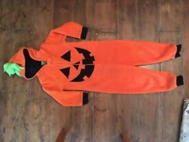 Pumpkin onesie. Soft fleecy outfit, well loved but outgrown.