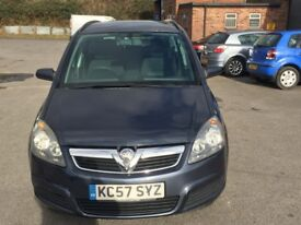 Vauxhall Zafira 1.6 i 16v Club 5dr 2007 (57 reg), MPV (30days warranty)£1499