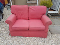 Two Laura Ashley 2seat sofas in pink