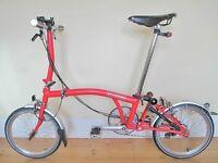 Custom Built Brompton Folding Bike With Brooks Leathers & Accessories