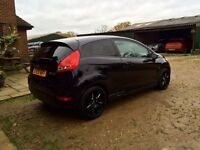 Ford fiesta 1.6tdci econetic black great on fuel free road tax golf bmw audi volkswagon swap st