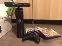 XBox 360 w/Kinect and 3 games