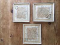 18th Century Maps - set of 3