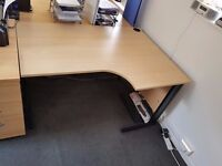 1 x small desk without pedestal