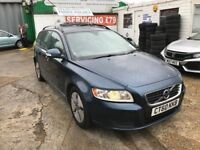 FINANCE £137 PR MONTH,2010 VOLVO V50 SD DRIVE 1.6 DIESEL ESTATE 1 OWNER FROM NEW 39600 MILES £20 TAX