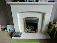 Complete gas fireplace