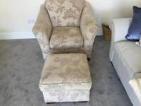 M & S chair and pouffe