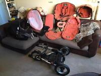 STUNNING QUINNY FREESTYLE XL TRAVEL SYSTEM 3-in-1 with Extras