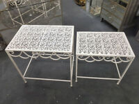Metal nest of tables garden furniture