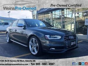 2015 Audi S4 3.0T TECHNIK| NAV| CAMERA| DRIVE SELECT| SUNROOF