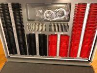 266 piece Optical Trial Lens Set Plastic Rim Aluminium Case with Trial Frame