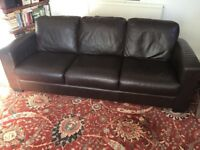 3 Seater Furniture Village Leather Sofa