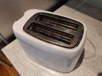 Tower White 2 Slice Toaster