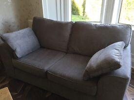 silver grey 3+2 seater sofa