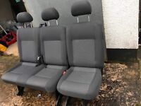 VW T5 Transporter Rear double and single combo seats