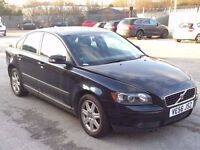 VOLVO S40 1.6 D S BLACK,HPI CLEAR,2 OWNER,2KEYS,CRUISE,ALLOYS,A/C,CLIMATE,SERVICE HISTORY,YEAR M.O.T