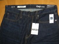 Two pairs of 32x30 Gap Jeans - one blue, one back, £20 for both