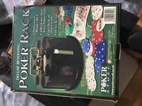 Poker chips Rack, 200 chips and brand new card set