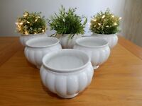 White glazed china indoor plant pots......... ' Otterbourne'