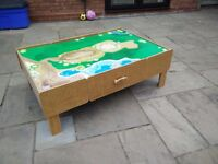 Children's Play Table - cars/trains/drawing with storage