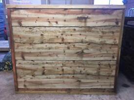 🍭Wooden Wayneylap Fence Panels • Pressure Treated