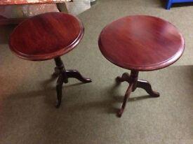 Mahogany effect Wine Tables